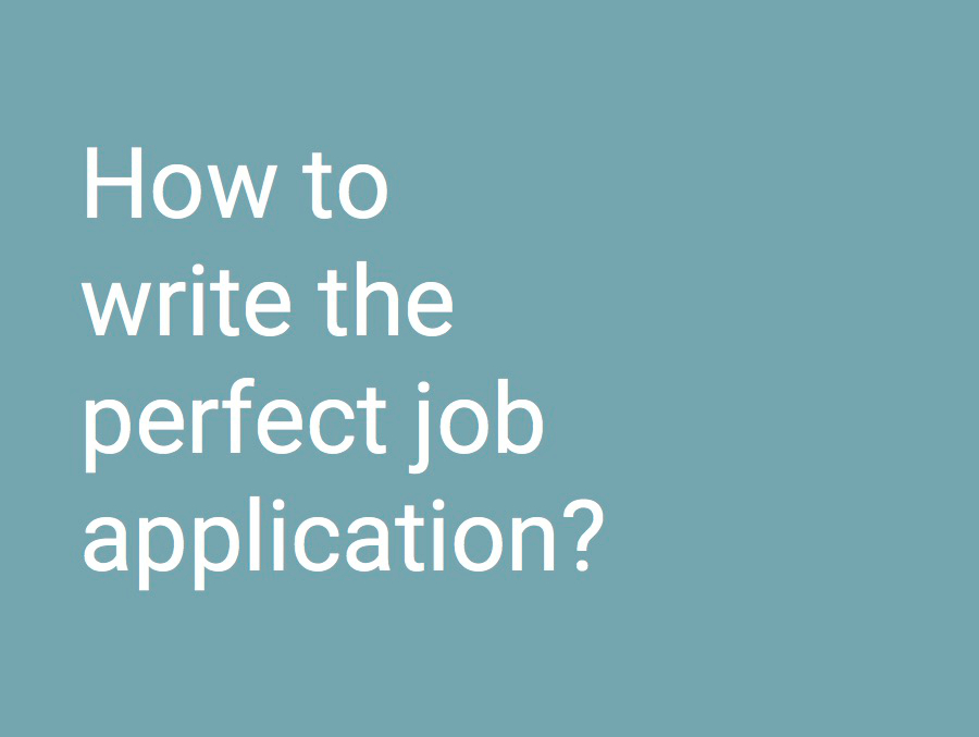 Cover application writing guide